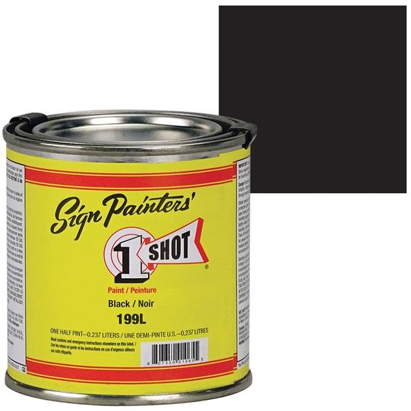 1 Shot® Lettering & Pinstripe Enamel Paint - Black