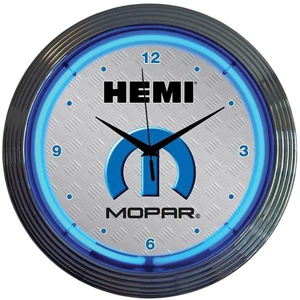 Mopar Hemi Neon Wall Clock
