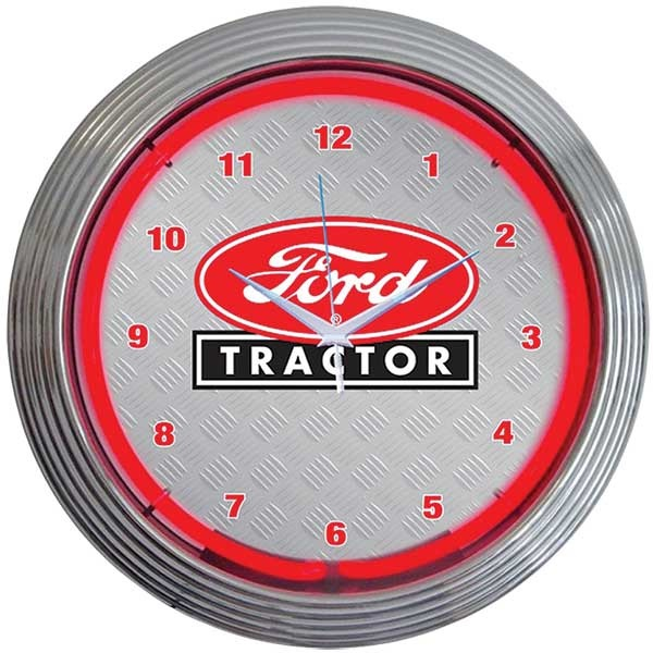 Ford Tractor Neon Wall Clock