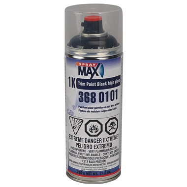 SprayMax® 1K Trim Paint - Gloss Black, 11.3 oz