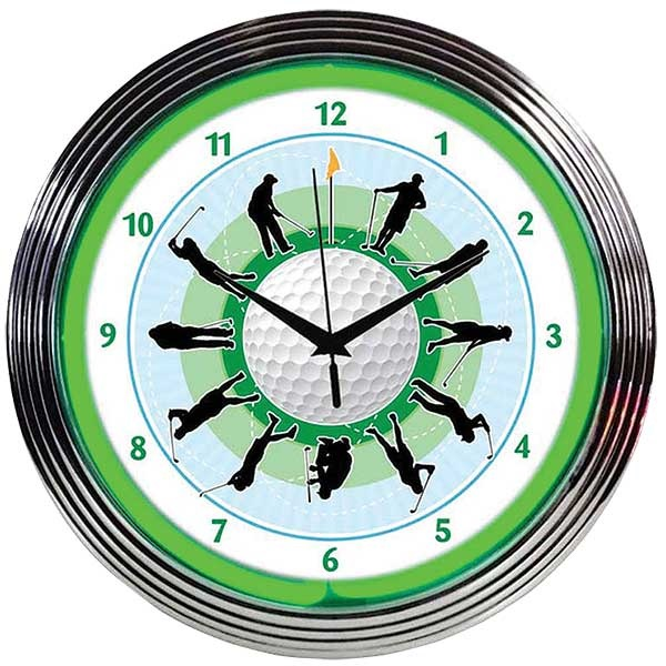 Golf Neon Wall Clock