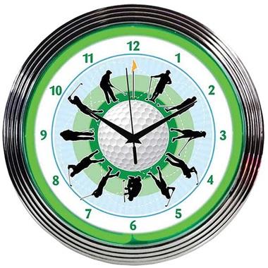 Golf Neon Wall Clock