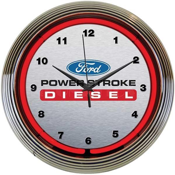 Ford Power Stroke Diesel Neon Wall Clock