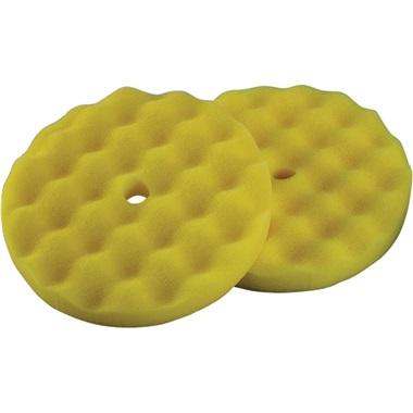 "TP Tools® 8"" Waffle-Style Yellow Foam Buffing Pad, 2 Pk"