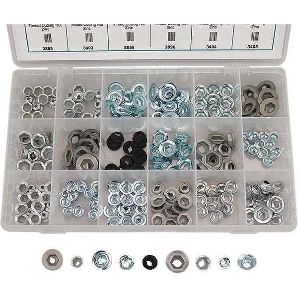 227-Pc Thread Cutting & Washer Lock Nuts Assortment