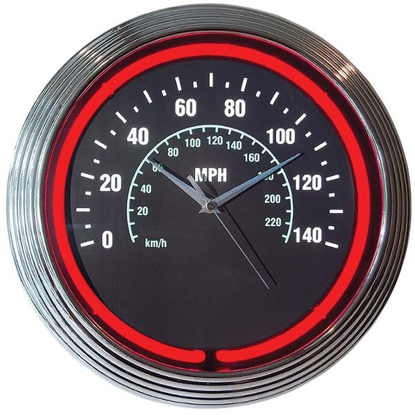 Speedometer Neon Wall Clock