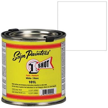 1 Shot® Lettering & Pinstripe Enamel Paint - White