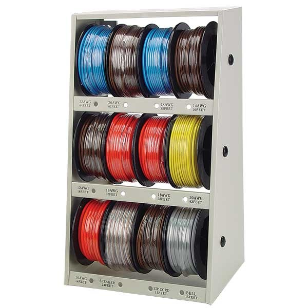 12-Pc Wire Assortment with Rack