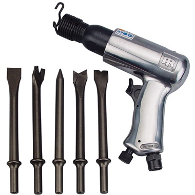 Ingersoll-Rand Air Hammer with 5 Chisels