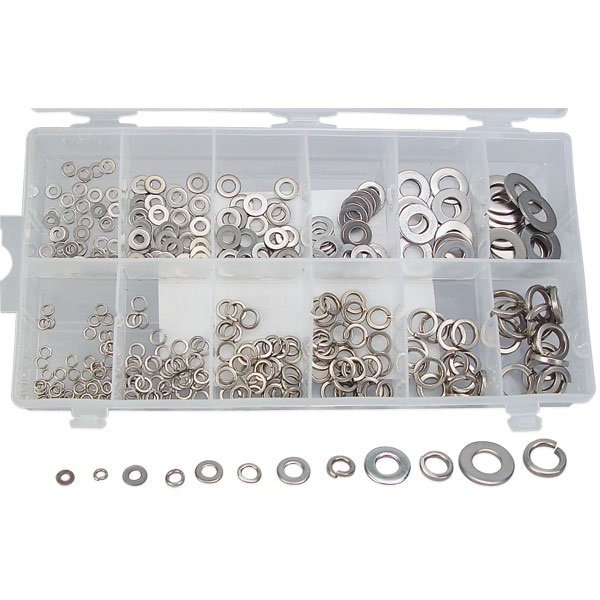350-Pc Lock and Flat Washers