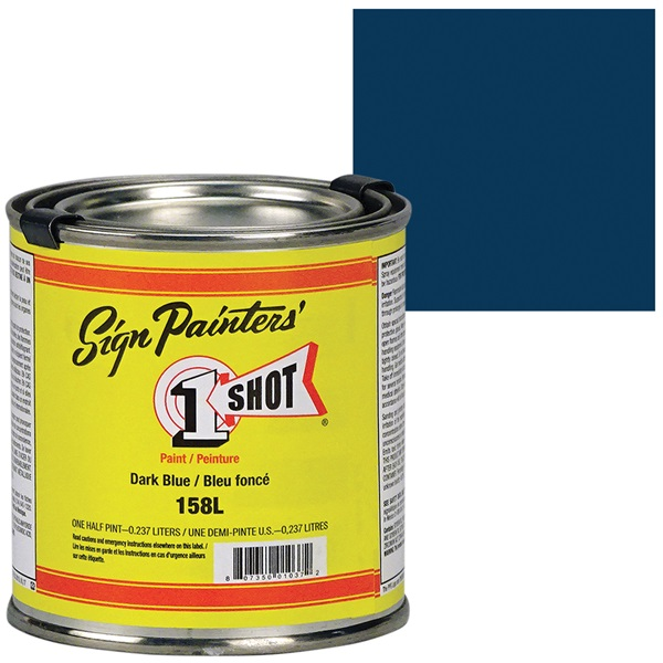 1 Shot® Lettering & Pinstripe Enamel Paint - Dark Blue