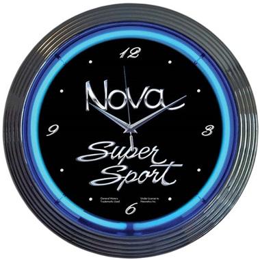 Nova Super Sport Neon Wall Clock