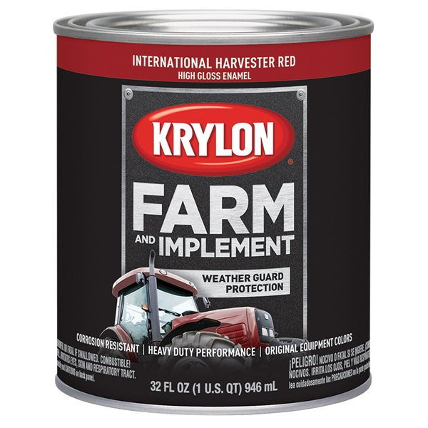 Krylon® Farm & Implement Paint - International Harvester Red, Qt