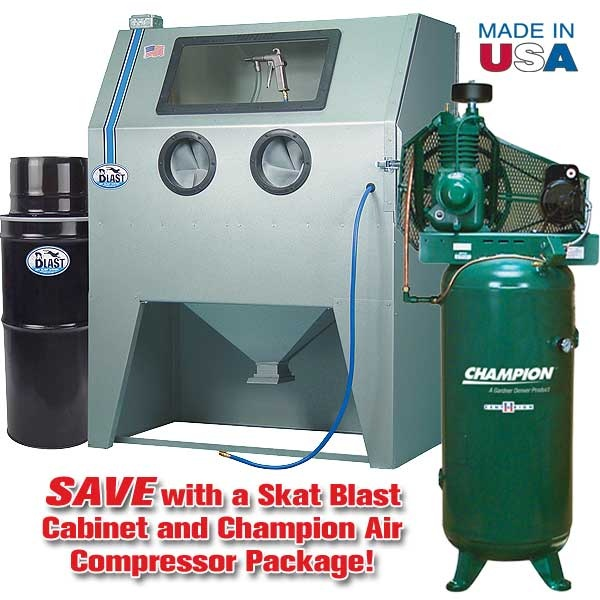 960-T Abrasive Blast Cabinet & Champion® Compressor Package Special