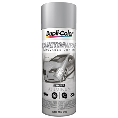 Dupli-Color® Custom Wrap Removable Coating - Matte Aluminum, 11 oz