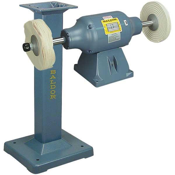 Baldor 174 3 4hp 2 Speed Buffer And Baldor 174 Cast Iron Stand