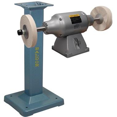 BALDOR® 3/4HP 2-Speed Buffer and BALDOR® Cast-Iron Stand