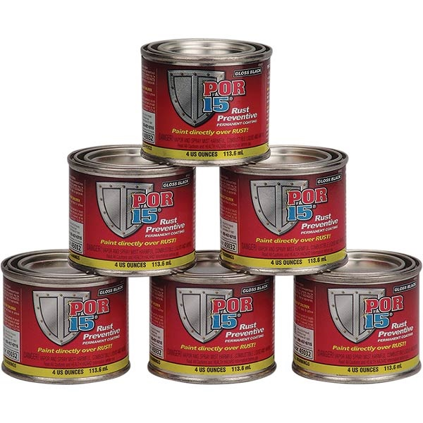 POR-15® 6-Pack Gloss Black Rust Preventive Paint