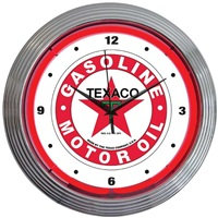 Texaco Neon Wall Clock