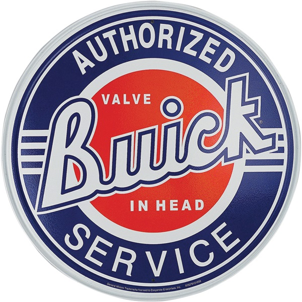 "Authorized Buick Tin Sign - 11-3/4"" Dia"