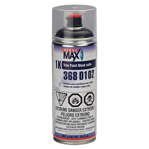SprayMax® 1K Trim Paint - Satin Black, 10.5 oz