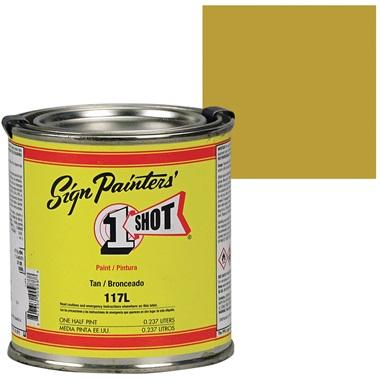 1 Shot® Lettering & Pinstripe Enamel Paint - Tan
