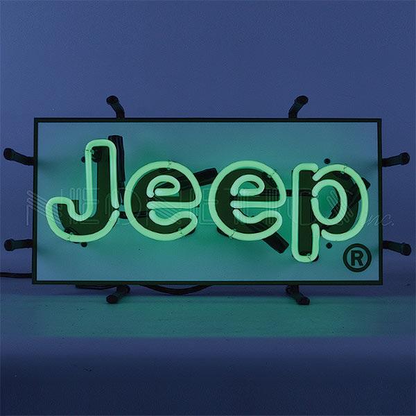 Jeep Green Junior Neon Sign