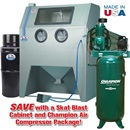 960 Abrasive Blast Cabinet & Champion® Compressor Package Special