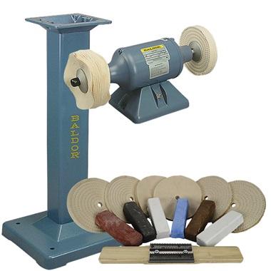 BALDOR® 1/3HP Buffer, BALDOR® Cast-Iron Stand & Buffing Kit