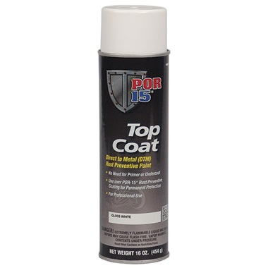 POR-15® Gloss White Topcoat, 16 oz Spray