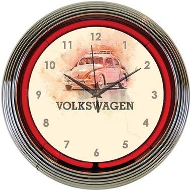 Volkswagen Beetle Neon Wall Clock