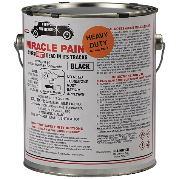 Bill Hirsch Miracle Paint - Extra-Thick Gloss Black, Gal
