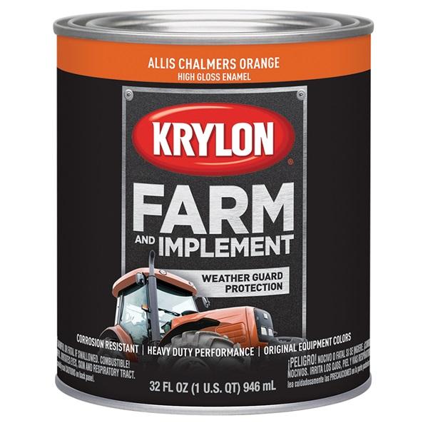 Krylon® Farm & Implement Paint - Allis Chalmers Orange, Qt
