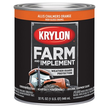 Krylon® Farm & Implement Paint - Allis Chalmers Orange, Qt