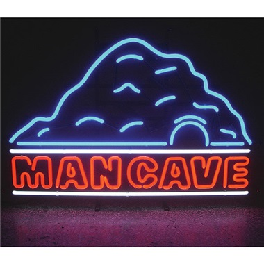Man Cave with Cave Neon Sign