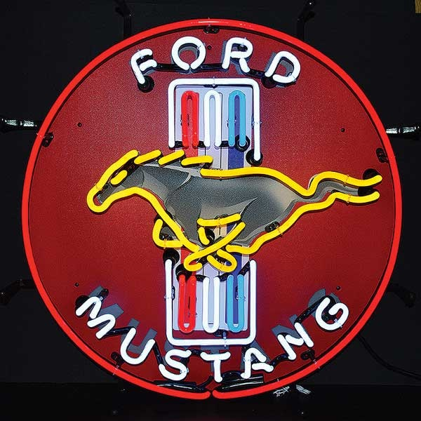 Ford Mustang Red Neon Sign