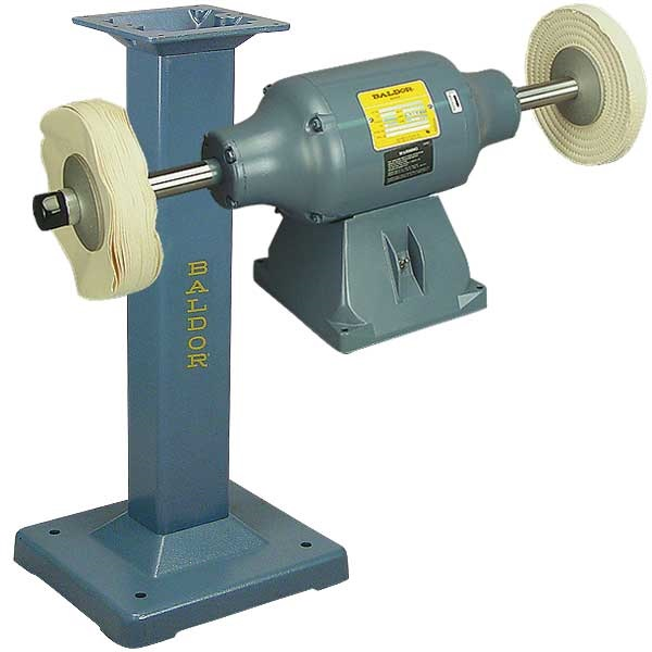 BALDOR® 1-1/2HP Buffer and BALDOR® Cast-Iron Stand