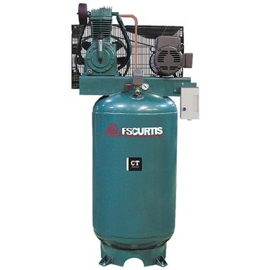 FS-Curtis 7.5HP, 2-Cyl, 2-Stage 80-Gal H.D. Air Compressor