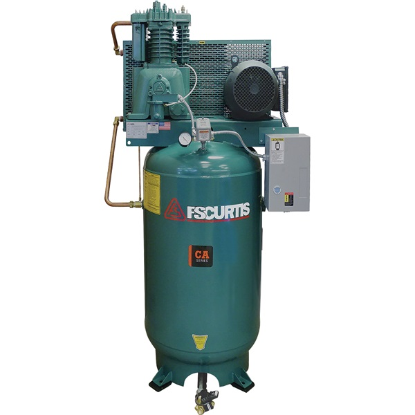 FS-Curtis 7.5HP, 2-Cyl, 2-Stage 80-Gal H.D. Air Compressor