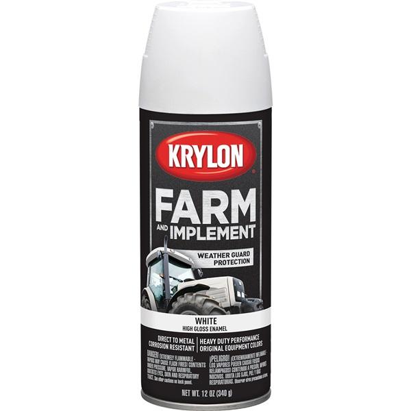 Krylon® Farm & Implement Paint - Gloss White, 12 oz