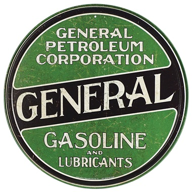 "General Petroleum Tin Sign - 11-3/4"" Dia"