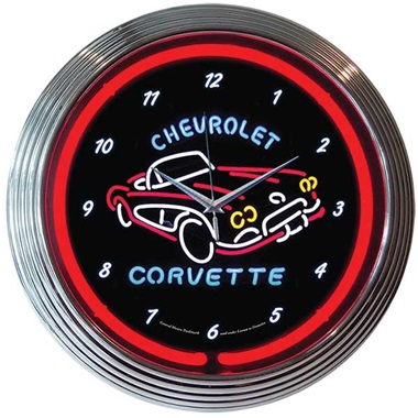 Corvette C1 Neon Wall Clock