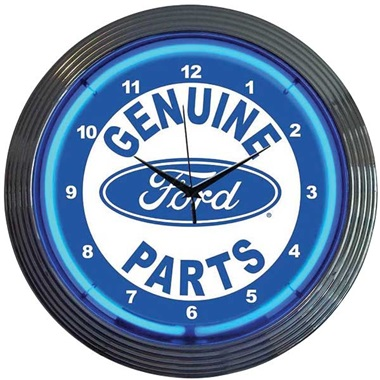 Ford Genuine Parts Neon Wall Clock