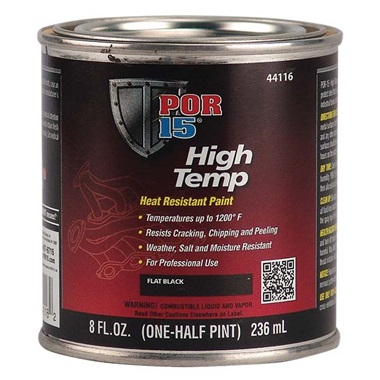 POR-15® High Temp Paint - Flat Black, Half Pint