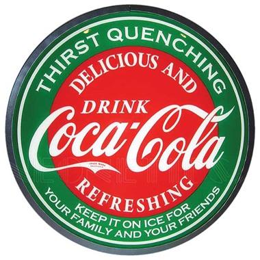 "Coca-Cola Evergreen 15"" Dia Backlit LED Sign"