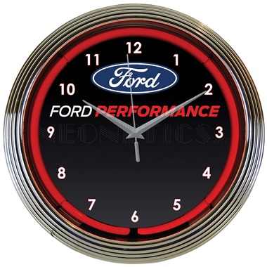 Ford Performance Neon Wall Clock