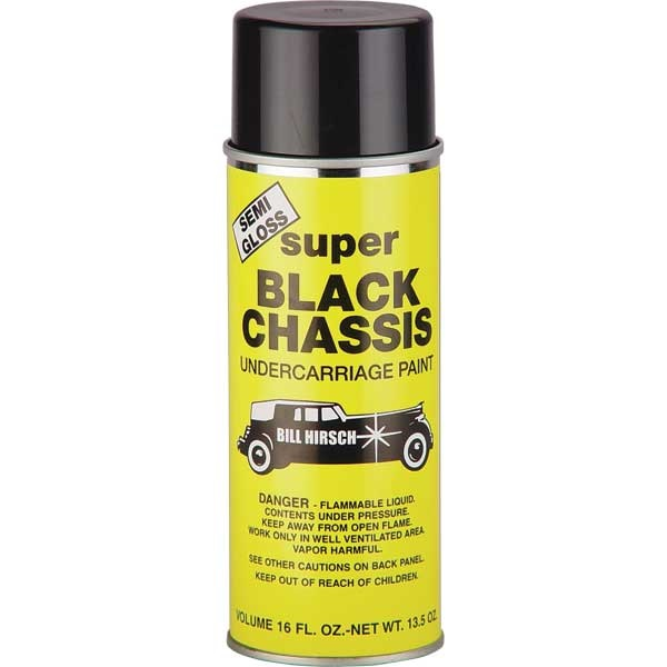 Bill Hirsch Semi-Gloss Super Black Chassis Undercarriage Paint, 13.5 oz