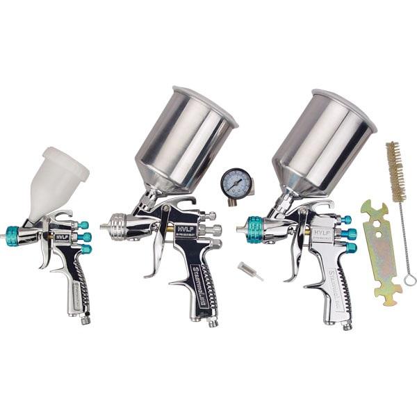 DeVILBISS® StartingLine® HVLP Spray 3-Gun Set