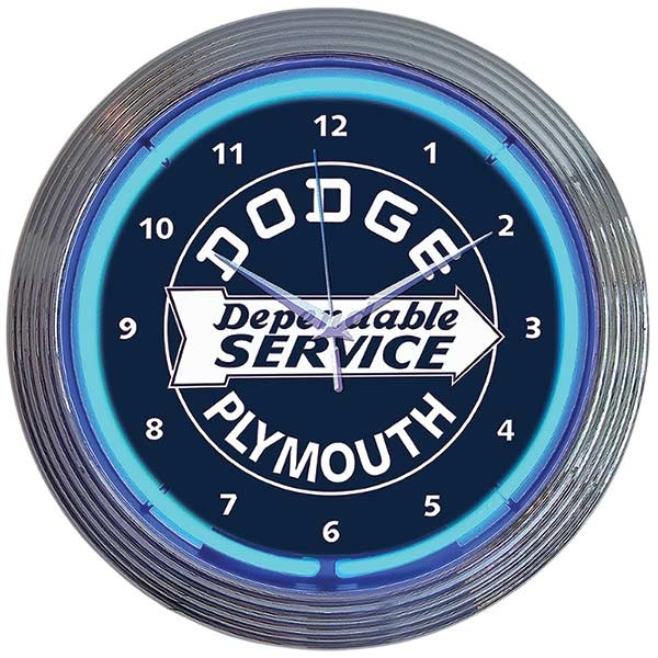 Dodge Service Neon Wall Clock
