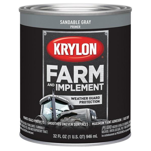 Krylon® Farm & Implement Sandable Gray Primer, Qt